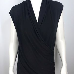 Catherine Malandrino ruched wrap tank top/blouse S